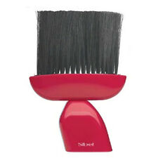 Sibel Barber Hair Neck Brush RED Handle OUST