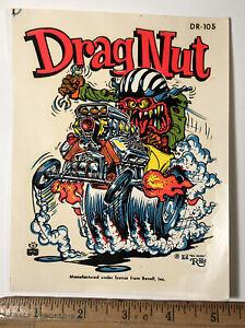Vintage Ed Big Daddy Roth Drag Nut DR-105 Water Slide Decal Hot Rat Rod Impko
