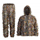 Ghillie Suit, Kids Adult 3D Leafy Hooded Camouflage Clothing,