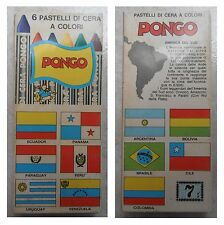 6 pastelli a cera vintage Adica Pongo bandiere America del Sud