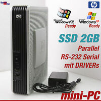 MINI COMPUTER PC AMD 1500+ WINDOWS 98 XP SSD 2GB RS-232 VGA PARALLEL OLD GAMES