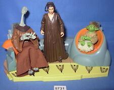 "Star Wars 2003 JEDI HIGH COUNCIL YARAEL POOF, DEPA & YADDLE 3.75"" set COMPLETE"