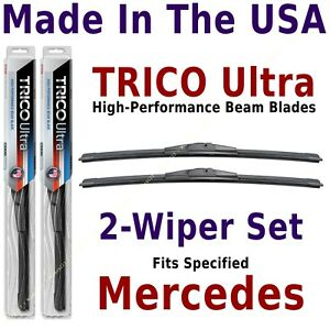 Buy American: TRICO Ultra 2-Wiper Blade Set fits listed Mercedes-Benz: 13-20-20