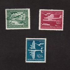 NAZI GERMANY 1944 SET OF AIRMAIL COMMEMORATIVE STAMPS MICHEL 866-868 MNH