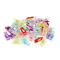 100PCS Pack Clover Wonder Clips for Crafts Quilting Sewing Knitting Crochet Tool