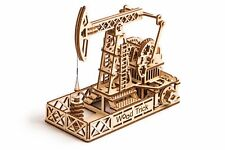 Wood Trick Oil Tower Derrick Mechanical Wooden 3D Puzzle Model Assembly DIY Kit