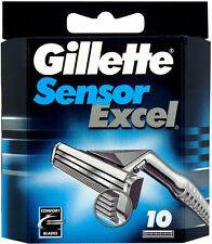 Mens Gillette Sensor Excel Razors Blades, 10 Cartridges, FREE SHIPPING