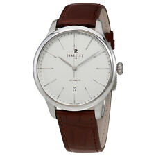 Perrelet First Class White Dial Automatic Mens Leather Watch A1049/1