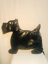 Vintage Black Patent Leather Designer SCOTTIE Dog Shaped Purse/Bag Crossbody