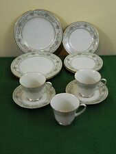 LOT NORITAKE GREEN HILL SALAD PLATES BREAD & BUTTER CUPS AND SAUCERS(OTRS AVAIL)