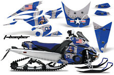 Snowmobile Graphics Kit Decal Sticker Wrap For Yamaha FX Nytro 08-14 TBOMBER BLU
