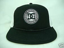 "New Mens DC Shoes""Smithers""Black W/ White Mesh Trucker Skate Hat $24 Last Units"