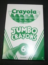 CRAYOLA JUMBO CRAYONS (6CT)      Rare Packaging     **BRAND  NEW**