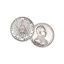 Vorzügliche 3 Mark Silbermünzen aus dem deutschen Kaiserreich mit Silber