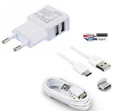 CARICABATTERIE VELOCE per SAMSUNG GALAXY S10 PLUS PRESA USB + CAVO TIPO C