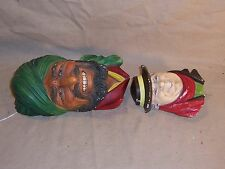 2 Vintage Bossons Chalkware Heads, Made in England, Imagical Models