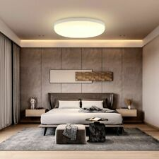 Circular LED Ceiling Lamp Mounted Panel Light Warm Living Room Bedroom Bathroom