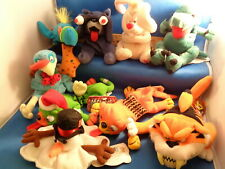 MEANIE BABIES / MIXED SERIES LOT (9) PLUSH FIGURES - 1999 IDEA FACTORY ! LQQK !