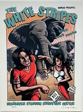 The White Stripes Concert Poster Justin Hampton Signed Seattle 2003