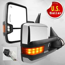Power Heated Led Turn Signals Towing Mirrors for 99-02 Chevy Silverado Sierra