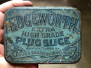 VINTAGE Edgeworth Tobacco Tin Larus & Bro Co Richmond, VA