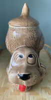 Vintage McCoy Brown Hound Dog Cookie Jar #0272 Dog Treat Jar Collector