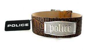 POLICE Herren Leder Band Armband Edelstahl AMARILLO PJ21321BLC.05