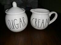 Rae Dunn LL sugar and cream set
