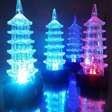 New Pagoda Santa Claus Ornaments Christmas Tree Decor LED Light Festival Decor