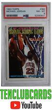 1993 Topps Michael Jordan #384 PSA 8 NM-MT Reiging Scoring Leader HOF Bulls