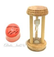 Wooden Sand Egg Timer Decorative Hourglass and Boil Egg Colour Changing Timer.