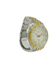 Bulova Precisionist 98B169 Men's Round Analog Date Stainless Steel Watch