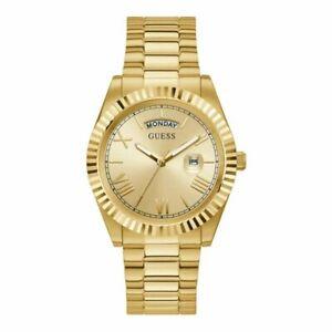 Orologio Uomo GUESS CONNOISSEUR GW0265G2 Bracciale Acciaio Gold Dorato