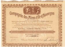 MINES D OR d 'Auvergne 1910 hochdeko mine d'or