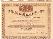 Mines D'Or  d' Auvergne 1910  Hochdeko   Goldmine