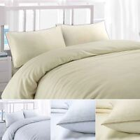 Luxury Soft Waffle 100% Cotton Quilt Duvet Cover Bedding Set Single Double King