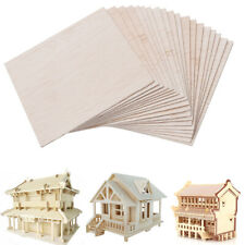 20x 100x100x1mm Wooden Plate Model Balsa Wood Sheets for House Ship Aircraft DIY