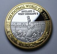FOOTBALL WORLD CUP 1966 Dual Metal Silver & 24ct Gold Commemorative. Bobby Moore
