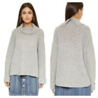 Free People Gray Waffle Knit Wool Sweater Pullover Cowl Neck Womens Sz X-Small