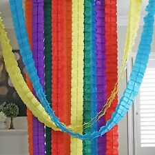 Circus Rainbow 3D Four Leaf Tissue Flower Hanging Streamers Party Decor