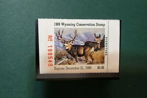 WY-6 1989 Wyoming Conservation Duck Stamp