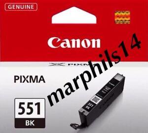 CLI-551 Canon Black Ink Cartridge - Genuine CLI551 For Pixma iP7250 MG5450 MX925