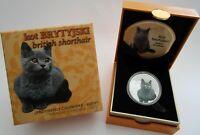 Niue 1 Dollar 2014 Katzen Britisch Kurzhaar Silber