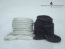 19mm Wood fire Stove/ Heater door rope seal, gasket- Fiberglass BLACK