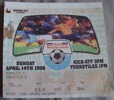 1996 Football League Trophy Final Wembley Ticket Rotherham United vs Shrewsbury