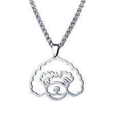 Stainless Steel Standard Mini Toy Poodle Caniche Pudelhund Pet Dog Charm Pendant