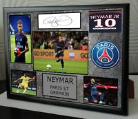 "NEYMAR Framed Canvas Print Signed  ""Great  Gift"""