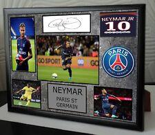 "NEYMAR Framed Canvas Print Signed  ""Great  Gift"""