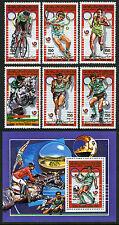 Libya 1342-1347, 1348 S/S, MNH. Summer Olympics, Seoul, 1988