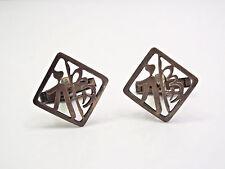 Vintage Japan Sterling Silver Cuff Links
